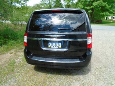 Back side of the Mini Van for rent at Penn Rentals - Chrysler Pacifica